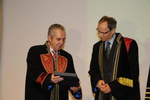 Professor Jean Tirole from Toulouse School of Economics was nominated Honorary Doctor of the Department of Economics on April 5, 2012