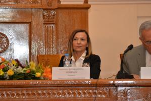 Η Πρόεδρος του Τμήματος Οικονομικής Επιστήμης, Καθηγήτρια Ε. Λουρή