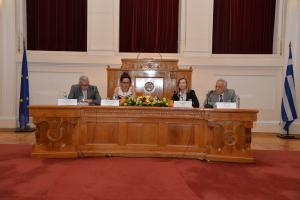 Πάνελ με Πρόεδρο την Καθηγήτρια Ελένη Λουρή-Δενδρινού, Πρόεδρο του Τμήματος Οικονομικής Επιστήμης και συμμετέχοντες τους Καθηγητές Τρύφωνα Κολλίντζα και Αικατερίνη Κυριαζίδου και τον Ομότιμο Καθηγητή Γεώργιο Μπήτρο